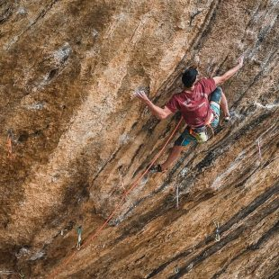 Jorge Diaz-Rullo en 'First ley' 9a+ de Margalef.