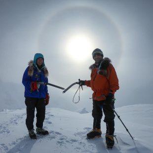 Lonnie Dupre y Pascale Marceau, en el Mt. Frances (Alaska).