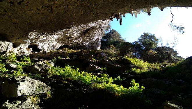 Cueva de Baltzola desde el interior