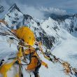 Restos de material en un campamento de altura en el K2 invernal.