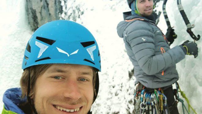 Simon Messner y Martin Sieberer en 'Eremit', en el valle de Pinnstal.