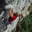 Lucho Birkner escalando en La Junta