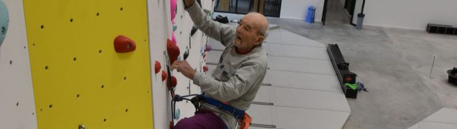 Marcel Remy escalando a los 98 años