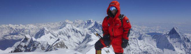 Yannick Graziani en el Annapurna, 2013 (equipo Millet)