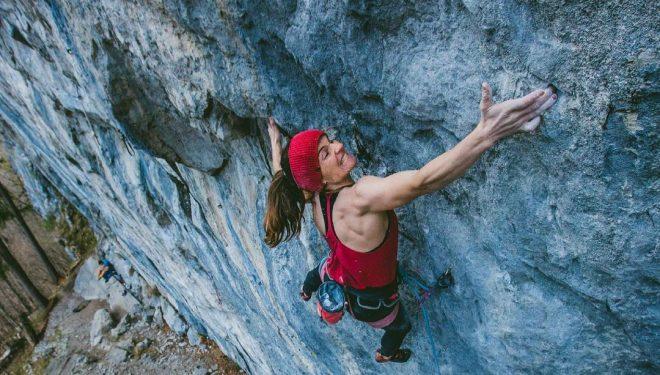 Barbara Zangerl en 'Sprengstoff' (9a)