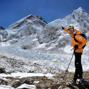 David Gottler, camino del Everest.