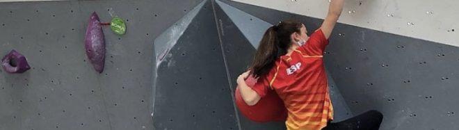 Iziar Martínez en una de las últimas concentraciones de la Selección Española de Escalada 2021