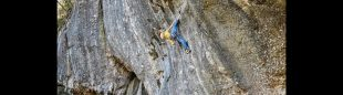 Alex Megos en 'Hello Kitty' 9a+ de Frankenjura.