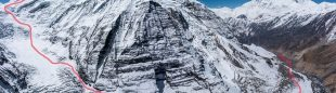Recorrido que deberán hacer Esteban 'Topo' Mena y Carla Perez desde su CB hasta la cima del Dhaulagiri.