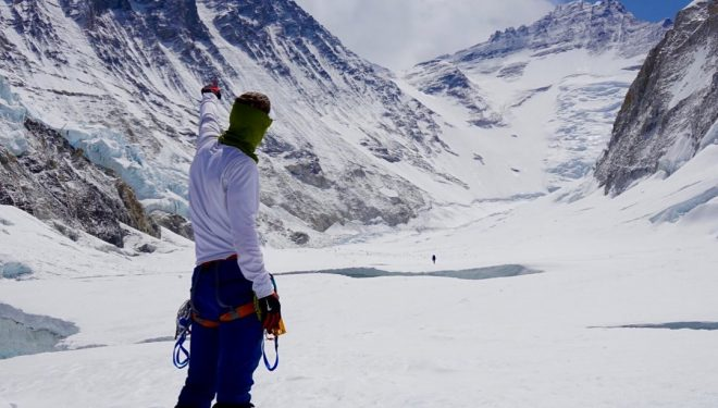 Colin O'Brady apunta al Everest (2016).
