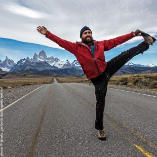 Sean Villanueva en Patagonia.