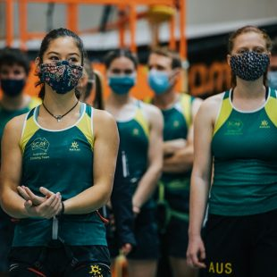 Competidoras en el Sydney Indoor Climbing durante la prueba de Sydney (AUS)