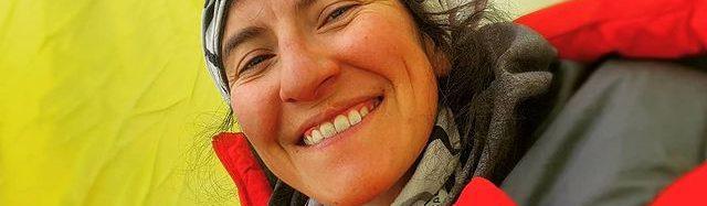 La alpinista ecuatoriana Carla Pérez