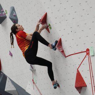 Aida Torres, subcampeona de Europa de búlder en categoría Junior en la ciudad rusa de Perm (5 mayo 2021), en una imagen de archivo.