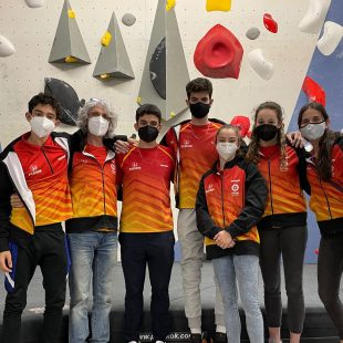 La Selección Juvenil de escalada de la Federación Española de Montañ