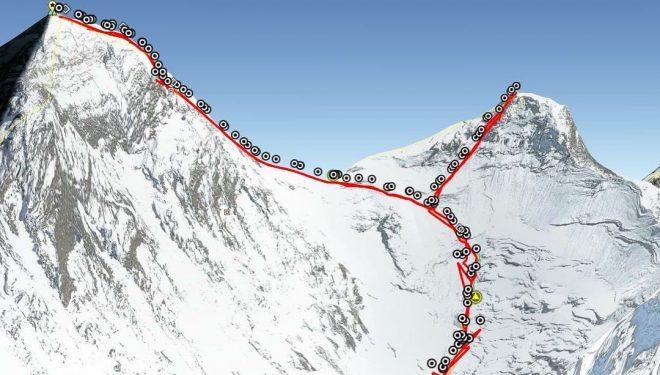 Track del doblete Everest-Lhotse.