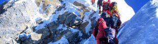 23 mayo 2019 en el Everest, día en que se alcanzó el récord de cimas: 354