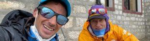 Kilian Jornet y David Göttler en el Khumbu.