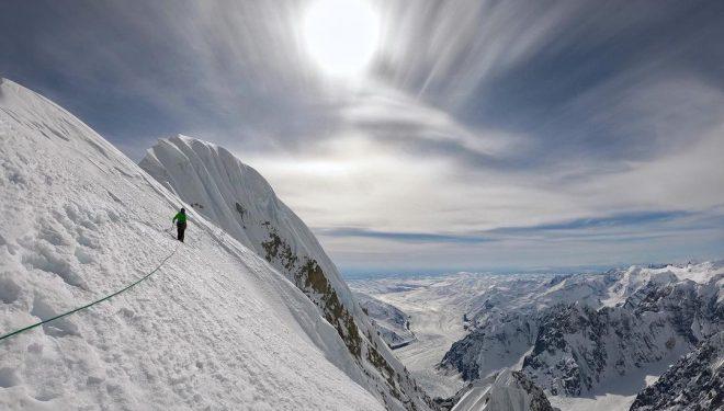 Luka Lindic e Ines Papert en 'Heart of stone' al Mt. Huntington.