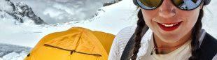 Stefi Troguet en el Dhaulagiri.