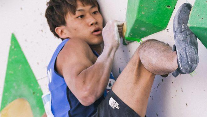 Yoshiyuki Ogata, en la Copa del Mundo de Búlder de Innsbruck 2021.