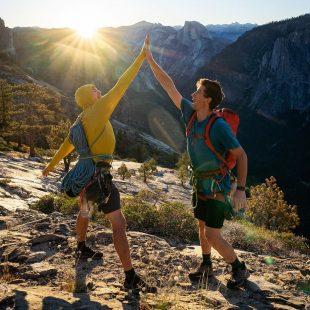 Scott Bennett y Jordan Cannon en su Triple Crown de Yosemite.