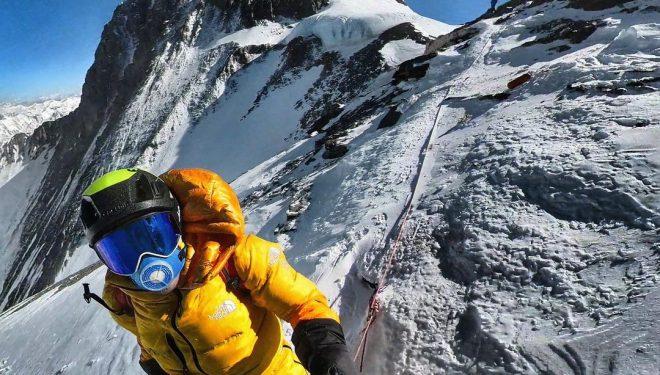 David Göttler y Kilian Jornet llegaron hasta el Collado Su ren su intento exprés al Everest.