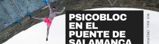 Psicobloc en el puente de salamanca en Ávila