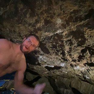 Matt Fultz en 'Creature from the black lagoon' 8C+ de Rocky Mountain National Park.