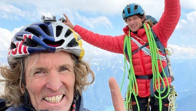 Stefan Glowacz y Philipp Hans en su Wallride Tour