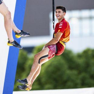 Alberto Ginés en la competición de Tokyo 2021 donde ganó, con 18 años. la medalla de oro.