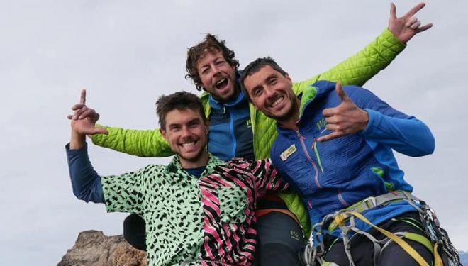 Matteo della Bordella, Silvan Schüpbach y Symon Welfringer en la Siren Tower (Groenlandia).