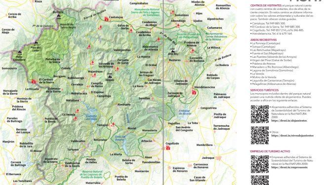 Mapa guía Sierra Nortes de Guadalajara