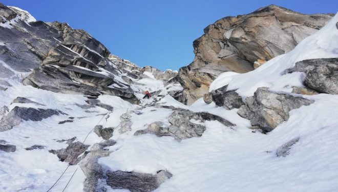 Damian Bielecki y Tomasz Oszewski en la 'Polish route' al Ocshapalca (Cordillera Blanca).