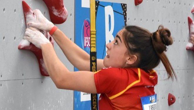 María Laborda en la Copa del Mundo de Velocidad de Villars 2021.