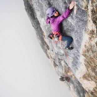 Katherine Choong en '6.4 Sekunden' (170 m, 8b/+) de Engelberg.