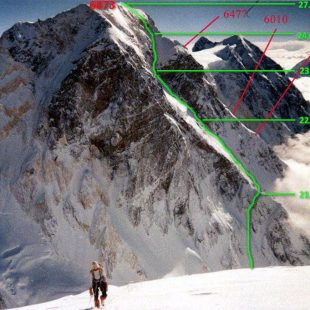 Línea de 'Impromptu' al Pico Topógrafos Militares (Tian Shan). Foto: Col. Golovchenko/Nilov/Grigoriev