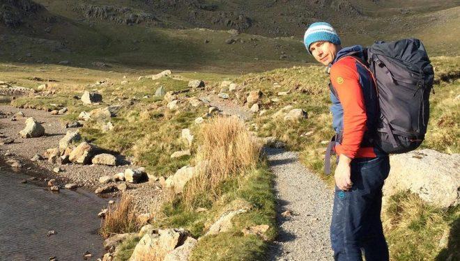Neil Gresham, en el Lake District de camino a 'Lexicon' (Pavey Ark).