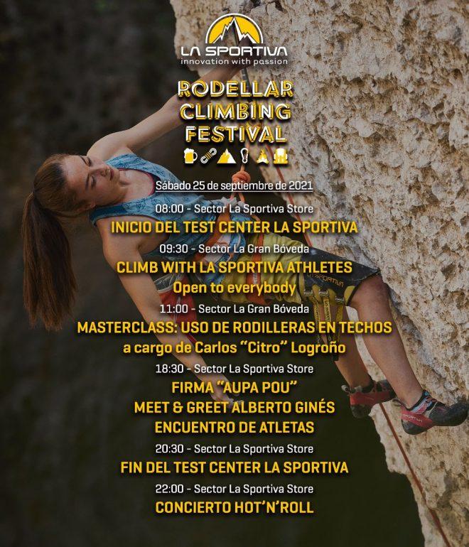 Rodellar Climbing Festival 2021 Programa