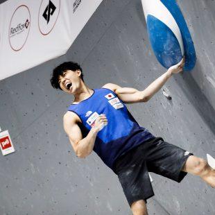 Kokoro Fujii en el Campeonato del Mundo de Búlder de Moscú 2021.