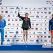Podio femenino del Campeonato del Mundo de Búlder de Moscú 2021: Natalia Grossman (1ª), Camilla Moroni (2ª), Stasa Gejo (3ª).