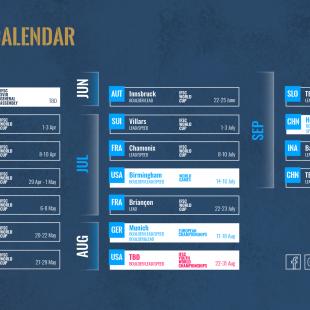 Calendario de competiciones internacionales de escalada 2022.