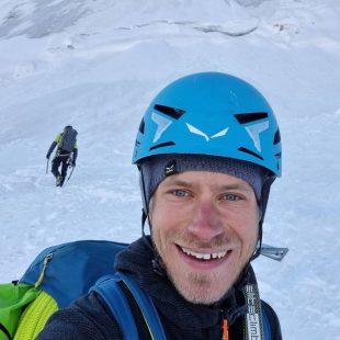 Simon Messner y Martin Sieberer en la 'Via Bonatti' de la cara norte del Cervino.