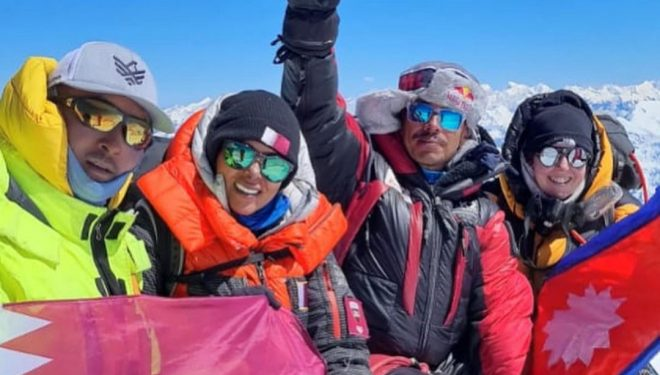 Nirmal Purja en la cima del Dhaulagiri (octubre de 2021).