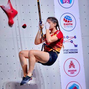 María Laborda, en el Campeonato del Mundo de Moscú 2021.