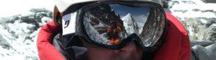 Xavi Arias en el Lhotse. En el reflejo se ve el Everest  (Xavi Arias)