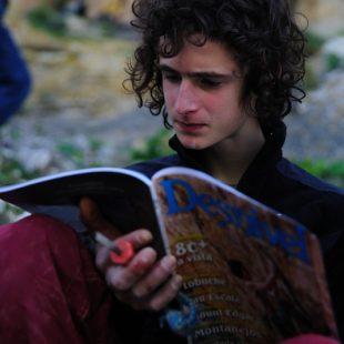 """Adam Ondra a pie de vía de """"Chilam Balam""""  (© David Munilla)"""