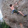Pol Roca en Vuelo a ciegas 8b de Montserrat  (Met Garcia)