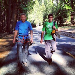 Tommy Caldwell y Alex Honnold durante su triplete de vías en libre en Yosemite.  (Foto: Facebook de Tommy Caldwell)