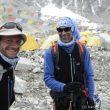 Ferrán Latorre y Nacho Orviz en el campo base del Everest